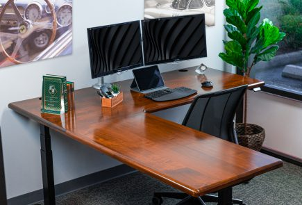 lander l-shaped desk hardwood