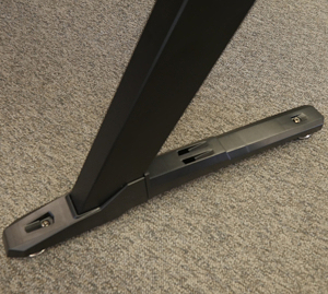 The foot of the desk, clad in its side armor.